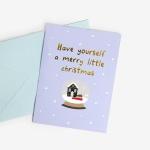 [인디고샵] [금박] 스노우볼 크리스마스 카드 set
