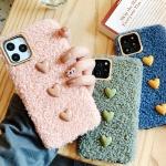 갤럭시s10 5g/플러스 핸드폰 하트 뽀글이 털케이스