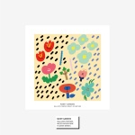 벌룬프렌즈 일러스트 정사각 포스터 - Rainy Garden