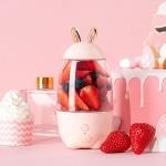 무선 휴대용 토끼 텀블러 블렌더 소형 믹서기 핑크