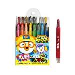 뽀로로 샤프식색연필 18색 지구화학 색연필