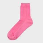 비비드 골지 립 양말(핑크)