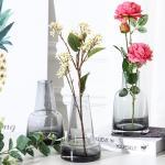 파베르 유리꽃병 식물 인테리어 장식 조화 화병