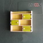 리브온(LIVOON) 원목 크로스 도어 3단 벽선반