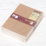 클래식한 표지와 갈매기 현상을 없애 잘 펴지는 브랜빌-옥스포드 B5 50매의 크라프트 노트 10권/팩 HA752-2s