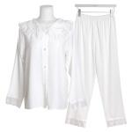 [쿠비카]소매 팬츠 하단 레이스 투피스 여성잠옷 W564