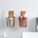 부착식 욕실 곰돌이 다용도 수납정리통