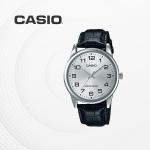 카시오 남성 남자 가죽 빈티지 손목시계 MTP-V001L-7B