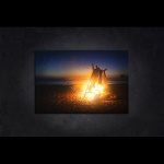 LED 캔버스 조명액자 - 모닥불