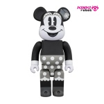 400%BEARBRICK MINNIE MOUSE B&W (1812010)