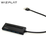 위즈플랫 4포트 USB3.1 Gen1 USB허브 WIZ-H43 (개별스위치 / 슬림디자인)