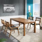 리머스 고무나무 원목 4인 식탁+의자 세트