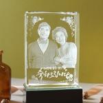 N-WED ll - 부모님 선물 인물입체조각 3D크리스탈