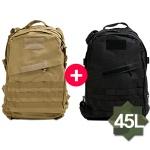 [패치증정] 1+1 남여공용 베이직백팩 여행가방 등산