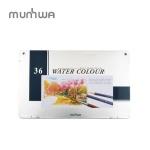 문화 고급 수채 색연필 36색 틴케이스