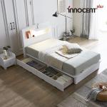 [이노센트] 리브 비아스 LED 큰서랍 침대 SS