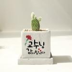 [love&thanks]캘리그라피화분