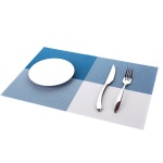 모노테이블 양면 식탁매트 사각 플레이팅(블루)