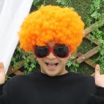 점보 삐에로 가발 (오렌지)