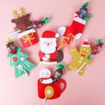 산타와 친구들 막대사탕 데코페이퍼 6개 (1set)