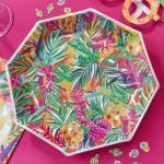 GR 트로피칼 핫썸머 종이 접시 Summer Paper Plates
