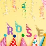 글리터 데코픽 (알파벳) 생일고깔