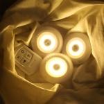 붙이는 LED 조명 무드등 리모컨 롱거 퍽 간접 라이트