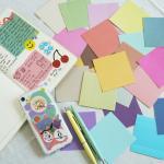 컬러 칩 파스텔 색종이 페이퍼 스티커 팩 세트 50매
