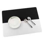 투톤 실리콘 식탁 매트(블랙)