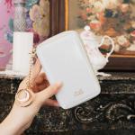 D.LAB Twinkle Zipper Wallet - White