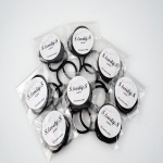 짱짱한 매듭없는 검정색 헤어끈 3EA (44mm)