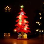 퓨어디 원목 크리스마스 트리(레드)