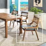 리머스 고무나무 원목 식탁 의자