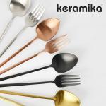 티타늄 케라미카 커트러리 양식기 디저트 스푼 포크