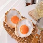 에어팟 1/2세대/프로 특이한 계란후라이 실리콘케이스