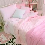 보송보송 타올침구 - 그라데이션 핑크 싱글(슈퍼싱글)기본세트