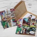 [Nakabayashi] 폴라로이드,인스탁스 미니,소형사진,카드수납에...나카바야시 1단 미니 포켓앨범 3권세트-회화 HF367-1
