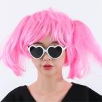 산발 단발머리 가발 핑크 이벤트가발 파티가발