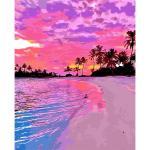 아이엠미니 DIY 별빛 명화그리기 40x50_핑크빛 해변가