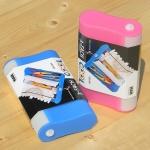 독일 어린이들이 사용하는 실용적인 대용량 플라스틱 필통-독일 HAN 3-FACH 펜슬케이스 COOL 996