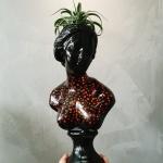 하트아트 중형 비너스여인 석고상화분 38cm내외+리본2