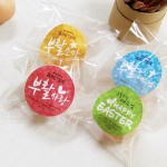 부활절 원형 스티커 4종세트 (비닐포함,60개)_Happy Easter