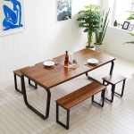 스틸뷰 1800 식탁+의자세트 테이블