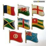 세계각국의 휘날리는 국기 뺏지