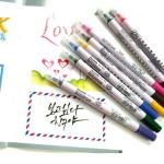 지그 캘리그라피저널&타이틀 트윈팁마카 12색세트