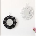 [2HOT] 블랙앤화이트 미니 원형 거울