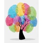DIY 명화그리기키트 - 손도장 나무 40x50cm (물감2배, 컬러캔버스, 명화, 풍경화, 자연, 나무, 지문)