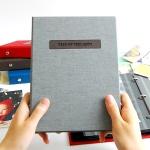THE MOMENT 제이로그 접착식앨범X스크랩북 바인더-그레이