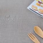 베이비컨츄리체크 방수식탁보(브라운 2인~10인용)
