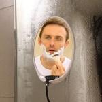김서림방지 욕실 화장실 붙이는 원형 거울